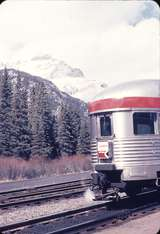 110195: Banff AB Observation Car at rear of No 2 Canadian