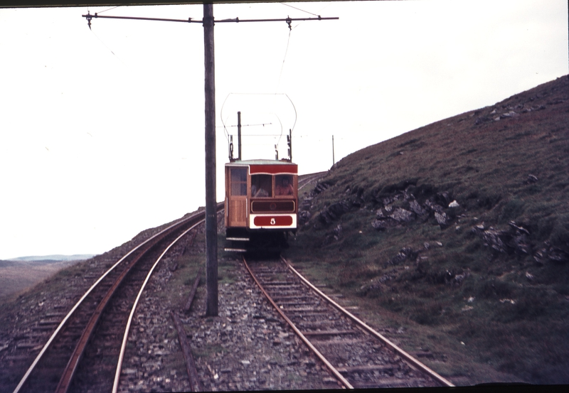 111287: Snaefell Mountain Railway near Snaefell Summit IOM No 5 Ascending
