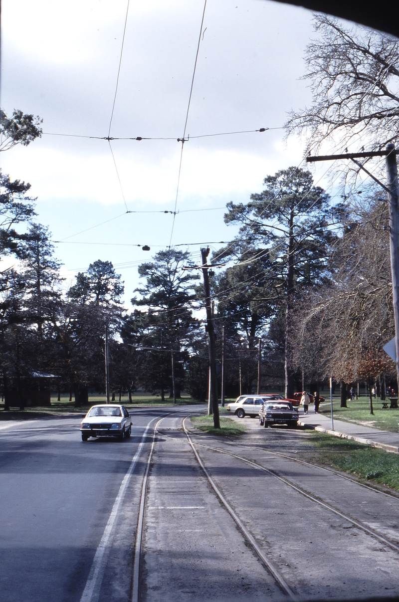 117342: Ballarat Tramway Museum Gardens Loop Looking North