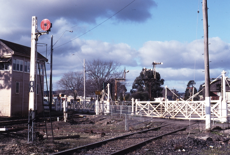117354: Ballarat East Humffray Street Gates Looking towards Melbourne