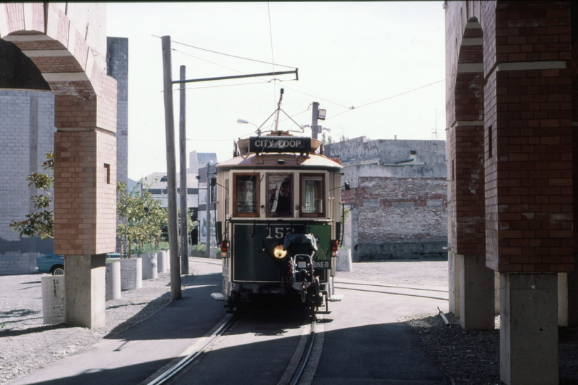 125760: Christchurch Tramway approaching Junction to Depot 152 (115),