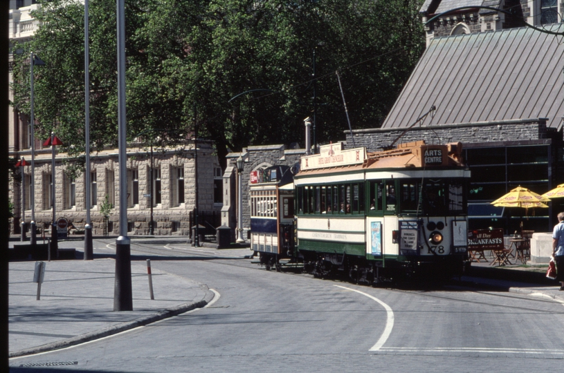 125764: Christchurch Tramway approaching Cathedral Square 178 18