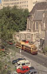 131815: Christchurch Tramway Cathedral Square Dunedin No 11 Trailer No 18