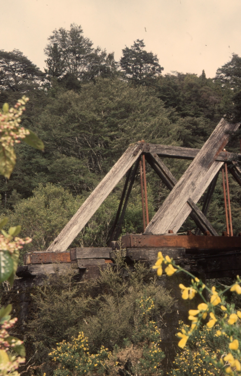 131887: Ford Creek Bridge Roa Incline Blackball end Note chairs for centre rail