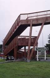 400813: Plimmerton North Island NZ Glued Laminated Timber Footbridge over State Highway No 1