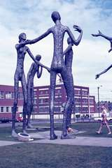 401097: Calgary AB Canada 'Family of Man' Statues removed from Expo 67 Photo Wendy Langford