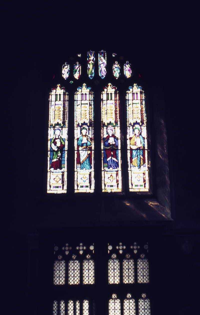 401352: Bath Somerset England Window in Bath Abbey
