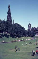 401426: Edinburgh Scotland Sir Walter Scott memorial in distance at left